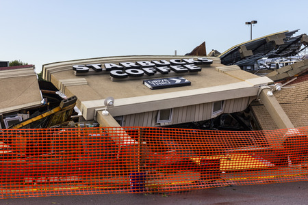 Kokomo - August 24, 2016: Several EF3 tornadoes touched down, one of which destroyed a local Starbucks 1