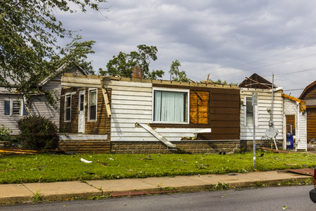 Kokomo - August 24, 2016: Several EF3 tornadoes touched down in a residential neighborhood causing millions of dollars in damage. This is the second time in three years this area has been hit by tornadoes 1