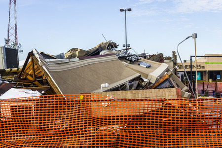decimated: Kokomo - August 24, 2016: Several EF3 tornadoes touched down, one of which destroyed a local Starbucks 4