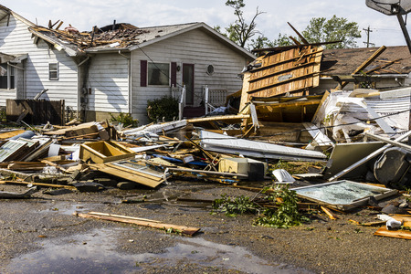 damaged: Kokomo - August 24, 2016: Several EF3 tornadoes touched down in a residential neighborhood causing millions of dollars in damage. This is the second time in three years this area has been hit by tornadoes 24