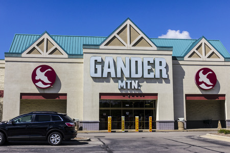 Indianapolis - Circa September 2016: Gander Mountain Retail Strip Mall Location. Gander Mountain is a fully integrated Omni-Channel retailer I