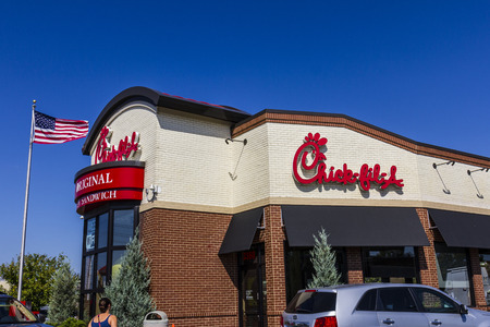 fil: Indianapolis - Circa September 2016: Chick-fil-A Retail Fast Food Location. Chick-fil-A Restaurants are Closed on Sundays II