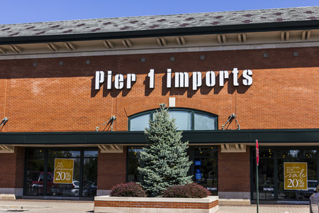 furnishings: Indianapolis - Circa September 2016: Pier 1 Imports Retail Strip Mall Location. Pier 1 Imports Home Furnishings and Decor II Editorial
