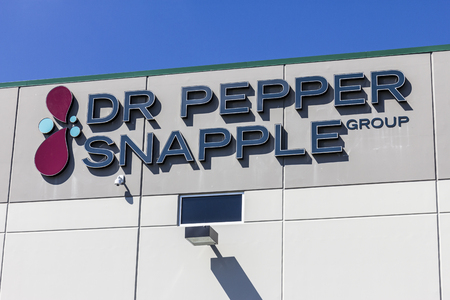 Indianapolis - Circa September 2016: Dr Pepper Snapple Group Bottling Plant. DPS is in the Bottled and Canned Soft Drinks Business I Editorial