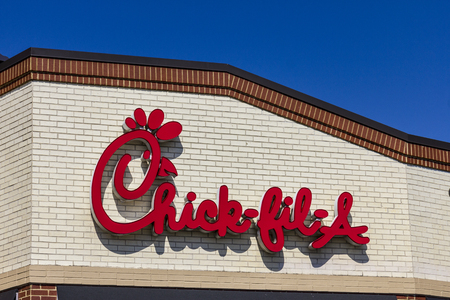 Indianapolis - Circa September 2016: Chick-fil-A Retail Fast Food Location. Chick-fil-A Restaurants are Closed on Sundays I