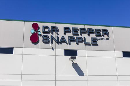 Indianapolis - Circa September 2016: Dr Pepper Snapple Group Bottling Plant. DPS is in the Bottled and Canned Soft Drinks Business II