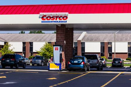 Indianapolis - Circa September 2016: Costco Wholesale Gasoline Location. Costco Wholesale is a Multi-Billion Dollar Global Retailer V