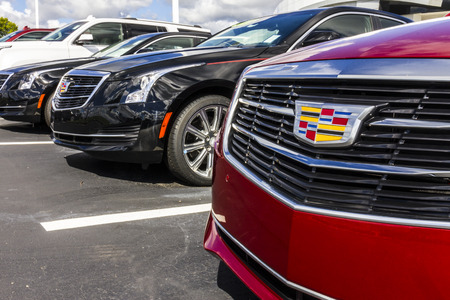Indianapolis - Circa September 2016: Cadillac Automobile Dealership. Cadillac is the Luxury Division of General Motors IV Stock Photo - 62800354