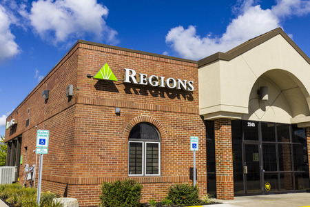 Indianapolis - Circa September 2016: Regions Financial Corporation. Regions is the only member of the Fortune 500 headquartered in Alabama I Editorial