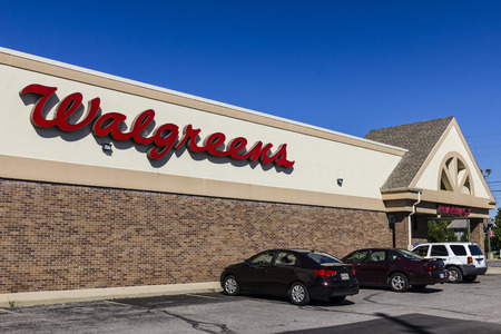 Indianapolis - Circa September 2016: Walgreens Retail Location. Walgreens is an American Pharmaceutical Company VII