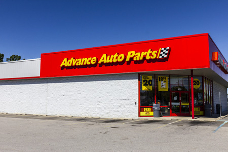 aftermarket: Ft. Wayne - Circa September 2016: Advance Auto Parts Retail Location. Advance Auto Parts is the largest retailer of automotive replacement parts and accessories in the US III Editorial
