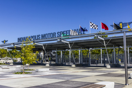 indy cars: Indianapolis - Circa September 2016: Indianapolis Motor Speedway Gate 1 Entrance. IMS Hosts the Indy 500 and Brickyard 400 Auto Races VI