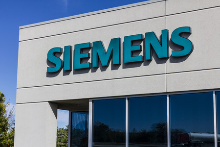 approximately: Indianapolis - Circa September 2016: Siemens Building Technologies. Siemens employs approximately 362,000 people worldwide II