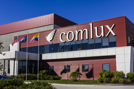 charter: Indianapolis - Circa October 2016: Comlux America  Headquarters. Comlux is a Corporate Charter Airline I