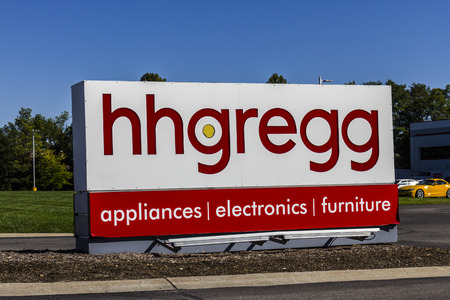 retailer: Indianapolis - Circa October 2016: hhgregg Corporate Headquarters. hhgregg is a retailer of consumer electronics and home appliances I