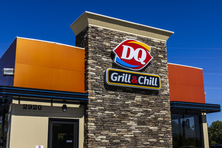 hathaway: Indianapolis - Circa October 2016: Dairy Queen Retail Fast Food Location. DQ is a Subsidiary of Berkshire Hathaway IV Editorial