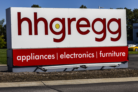 retailer: Indianapolis - Circa October 2016: hhgregg Corporate Headquarters. hhgregg is a retailer of consumer electronics and home appliances II
