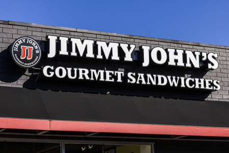 millennial: Indianapolis - Circa October 2016: Jimmy Johns Gourmet Sandwich Restaurant. Jimmy Johns is known for their fast delivery I Editorial