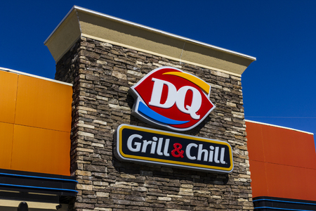 hathaway: Indianapolis - Circa October 2016: Dairy Queen Retail Fast Food Location. DQ is a Subsidiary of Berkshire Hathaway V Editorial