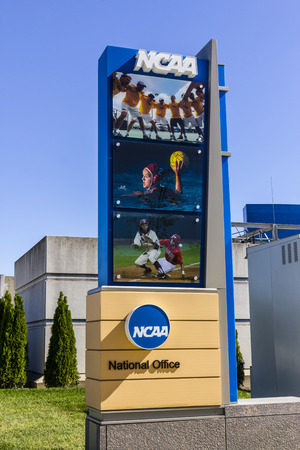 Indianapolis - Circa October 2016: National Collegiate Athletic Association Headquarters. The NCAA regulates athletic programs of many colleges and universities I Editorial