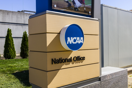 Indianapolis - Circa October 2016: National Collegiate Athletic Association Headquarters. The NCAA regulates athletic programs of many colleges and universities III