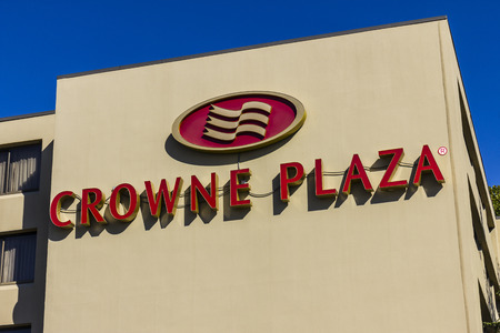 part of me: Indianapolis - Circa October 2016: Crowne Plaza Airport Hotel Location. Crowne Plaza is part of InterContinental Hotels Group I Editorial