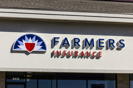 underwriter: Indianapolis - Circa October 2016: Farmers Insurance Group Agent Location. Farmers Provides Home, Life and Car Insurance I