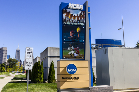 Indianapolis - Circa October 2016: National Collegiate Athletic Association Headquarters. The NCAA regulates athletic programs of many colleges and universities IV