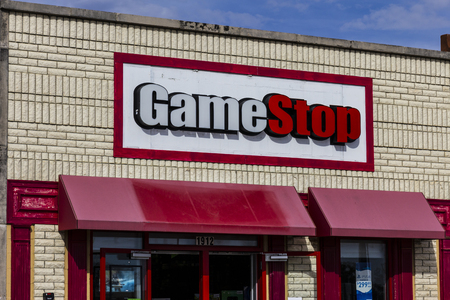retailer: Kokomo - Circa October 2016: GameStop Strip Mall Location. GameStop is a Video Game and Electronics Retailer I