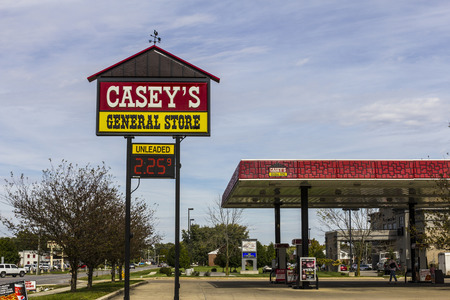 general store: Kokomo - Circa October 2016: Caseys General Store Gas and Convenience Location II Editorial