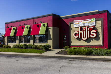 chili's restaurant: Indianapolis - Circa October 2016: Chilis Grill & Bar Casual Dining Restaurant. Chilis is known for its Baby Back Ribs III