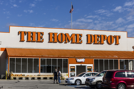 retailer: Logansport - Circa October 2016: Home Depot Location. Home Depot is the Largest Home Improvement Retailer in the US IV