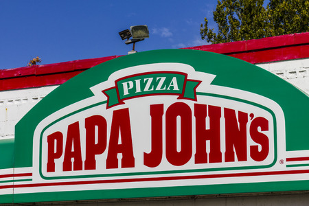 Logansport - Circa October 2016: Papa Johns Take-Out Pizza Restaurant. Papa Johns is the third largest take-out and pizza delivery chain in the world I Redakční