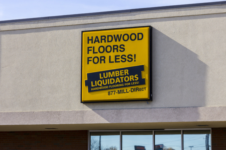 retailer: Indianapolis - Circa November 2016: Lumber Liquidators Strip Mall Location. Lumber Liquidators is an American retailer of hardwood flooring II Editorial