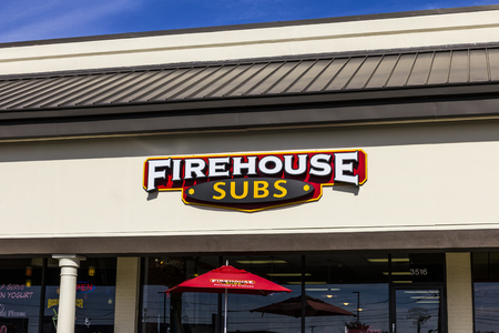 Indianapolis - Circa November 2016: Firehouse Subs fast casual restaurant. Firehouse specializes in hot submarine sandwiches II Editorial