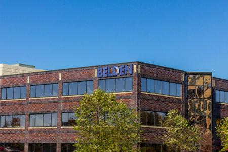 인디애나 폴리스 - 2016 년 11 월 : 벨 덴드 본부. Belden은 네트워킹, 연결 및 케이블 제품 제조업체입니다. 에디토리얼