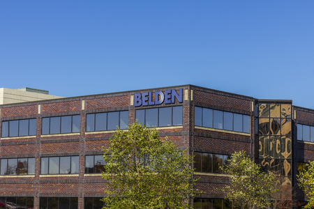 Indianapolis - Circa November 2016: Belden Division Headquarters. Belden is a manufacturer of networking, connectivity, and cable products Editöryel