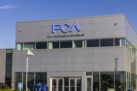 Tipton - Circa November 2016: FCA Fiat Chrysler Automobiles Transmission Plant. FCA sells vehicles under the Chrysler, Dodge, and Jeep brands II Редакционное