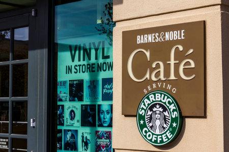 Indianapolis - Circa November 2016: Barnes & Noble Retail Location. Many Barnes & Noble locations include a Cafe that serve Starbucks Coffee VI