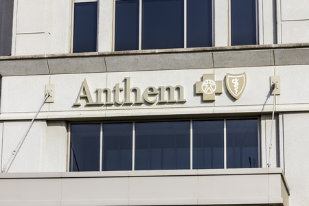 health care provider: Indianapolis - Circa November 2016: Anthem World Headquarters. Anthem is a Trusted Health Insurance Plan Provider XI