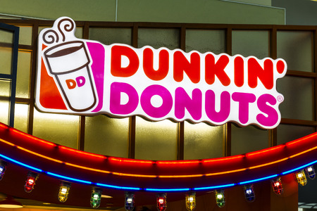Houston - Circa December 2016: Dunkin Donuts Retail Location. Dunkin is Americas favorite every day, all-day stop for coffee and baked goods IV Editorial