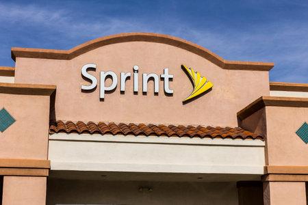 Las Vegas - Circa December 2016: Sprint Retail Wireless Store. Sprint is a Subsidiary of Japan's SoftBank Group Corporation VI Editorial