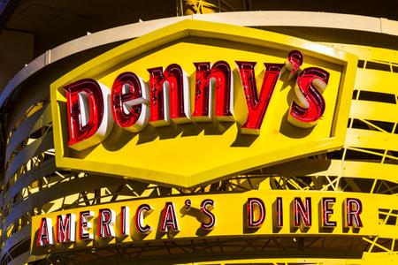 Las Vegas - Circa December 2016: Exterior of a Dennys Coffee Shop. Dennys is Americas Diner III