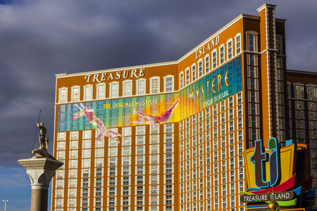 Las Vegas - Circa December 2016: Treasure Island Hotel and Casino on the Strip. TI is owned and operated by real estate investor Phil Ruffin I