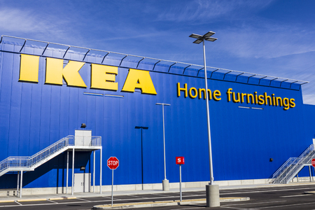 furniture store: Las Vegas - Circa December 2016: IKEA Home Furnishings Store. Founded in Sweden, IKEA is the worlds largest furniture retailer IV