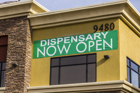 Henderson - Circa December 2016: The Source Las Vegas Medical Marijuana Dispensary. In 2017, Recreational Pot will be legal in Nevada I
