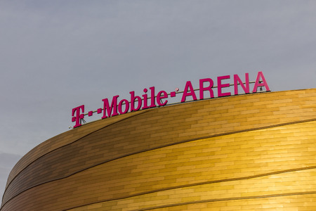 Las Vegas - Circa December 2016: The T-Mobile Arena Located on the Strip. T-Mobile Arena will be the home of the NHLs Golden Knights II
