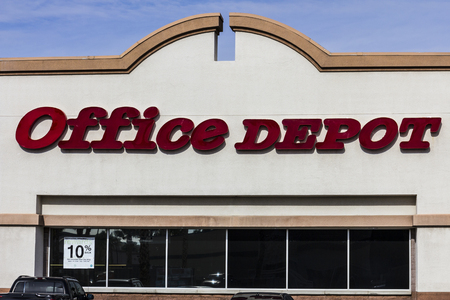 xerox: Las Vegas - Circa December 2016: Office Depot Strip Mall Location. Office Depot has combined annual sales of approximately $11 billion I