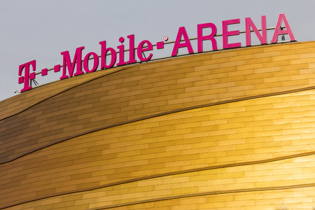 Las Vegas - Circa December 2016: The T-Mobile Arena Located on the Strip. T-Mobile Arena will be the home of the NHLs Golden Knights I