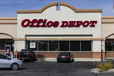 xerox: Las Vegas - Circa December 2016: Office Depot Strip Mall Location. Office Depot has combined annual sales of approximately $11 billion II
